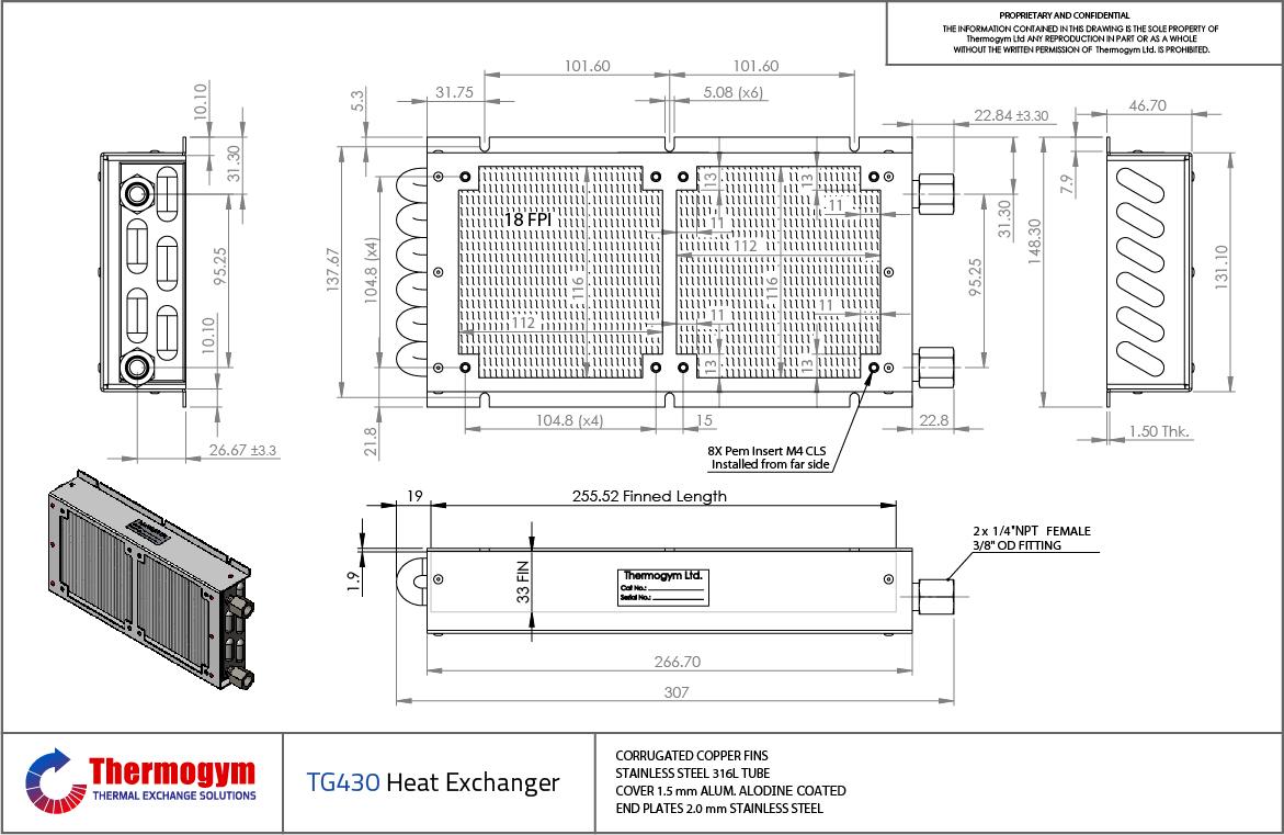 Heat Exchanger TG430