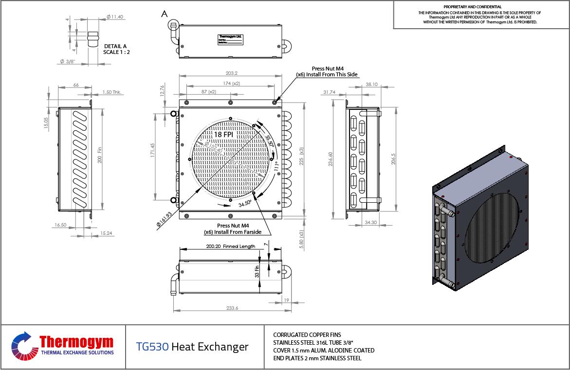 Fin Tube Heat Exchanger TG530