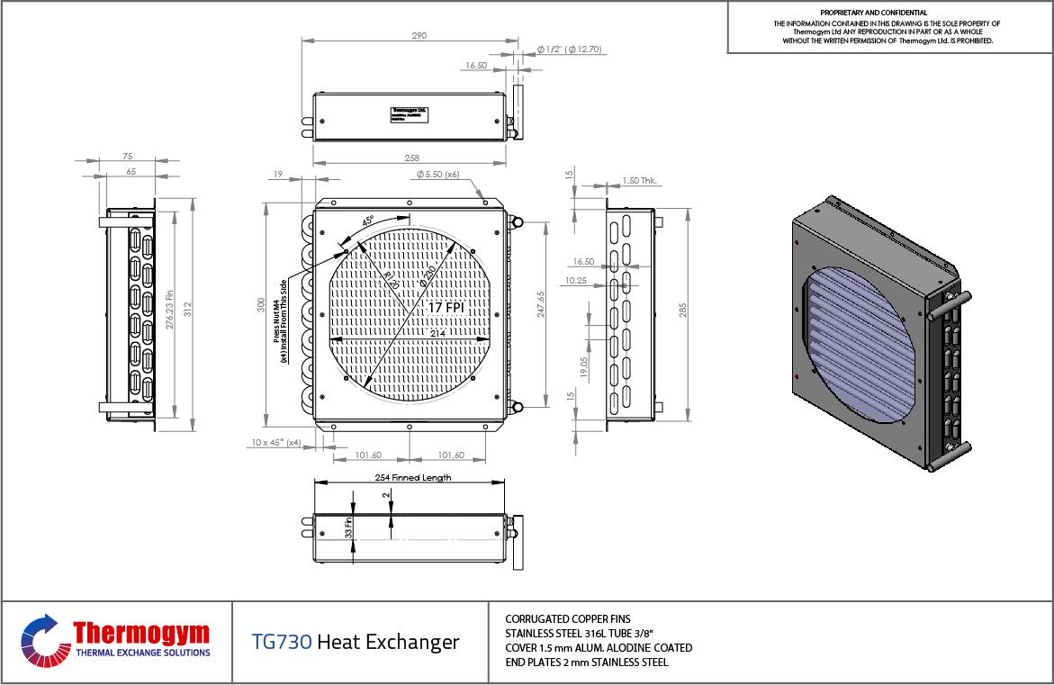 Fin Tube Heat Exchanger TG730